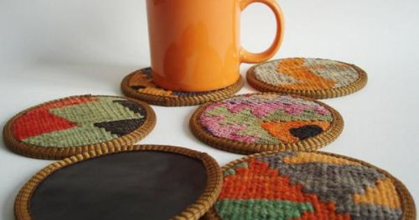 diy hand woven coasters diy crafts pinterest