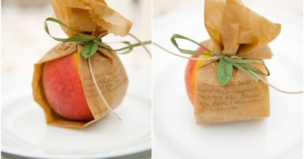 Edible place seating cards! I loved the ideas of cupcakes, drinks, and