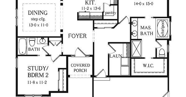 2 bedroom ranch house plans with basement two bedroom for Two bedroom house plans with basement