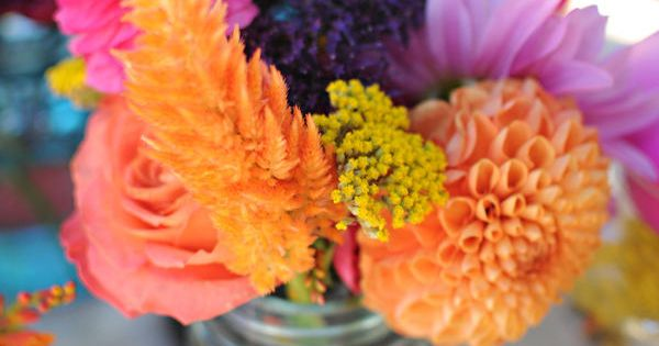 colorful florals. Love the purple and orange together - stunning color combo!