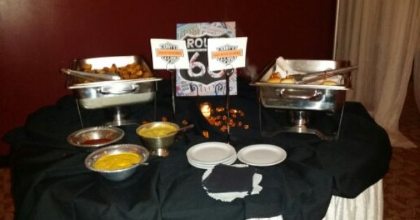 Harley Party Food Table Motorcycle Retirement Party