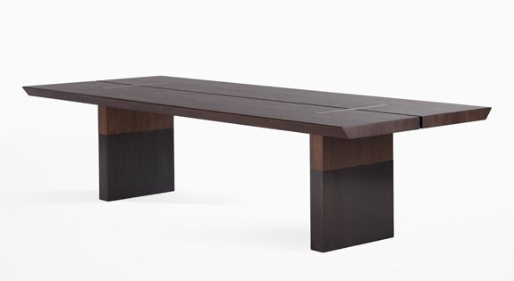 Holly hunt split dining table 120 wide 46 deep for 32 wide dining table