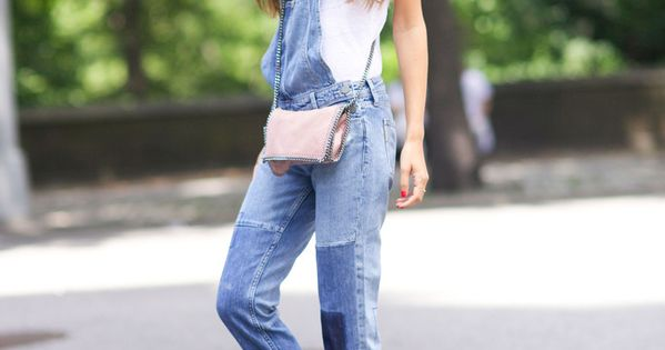 Overalls | White Tee | Pink Shoes | Feminine | Spring Style