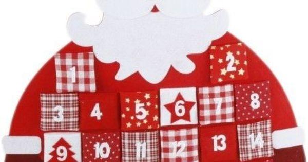 Grand calendrier de l avent en feutrine remplir d coration murale p re no l christmas - Calendrier de l avent tissu a remplir ...