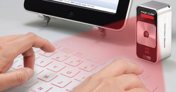 Virtual Keyboard - Hammacher Schlemmer Projects onto flat, opaque surface. Instant keyboard
