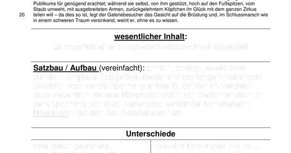 Kafka Auf Der Galerie Interpretation Unterrichtsmaterial Im Fach Deutsch Unterrichtsmaterial Satzbau Deutsch Unterricht