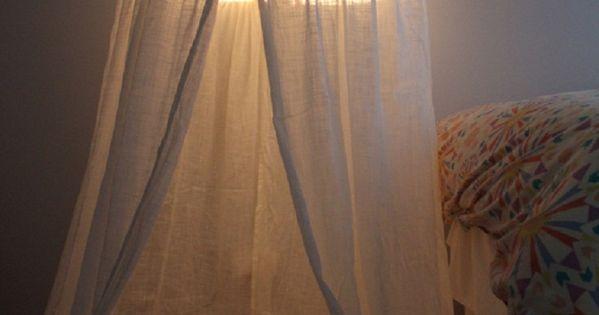 Hula Hoop tent tutorial. Or mosquito net!