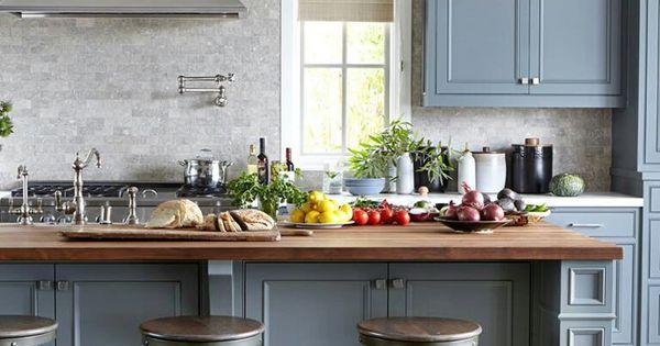 Kitchen cabinets different color island - Cozinha Casinha Pinterest Kitchens