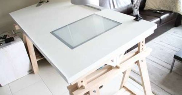 The IKEAhacked Adjustable Angle Drawing Table Desks