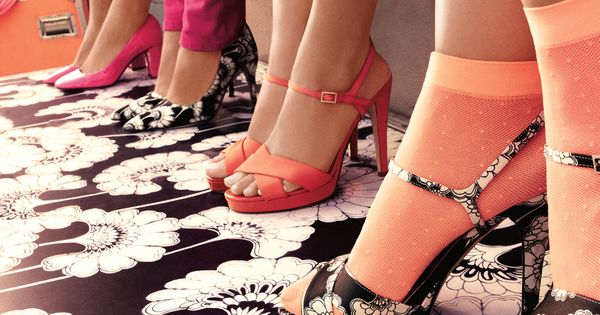 Kate Spade ad campaign. Socks w/ heels.