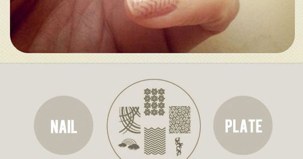 Loving this patterned nail polish, DIY too