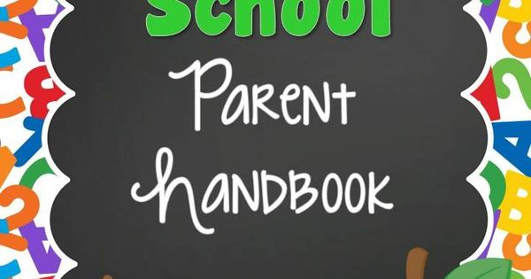 parent handbook template preschool