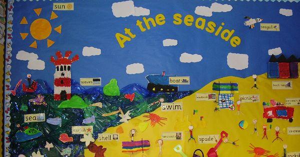 At the seaside classroom display photo - Photo gallery - SparkleBox