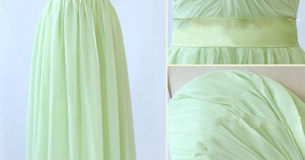 Etsy.com Bridesmaid, Prom Dress. Long, A-Line, Sweetheart Chiffon Dress