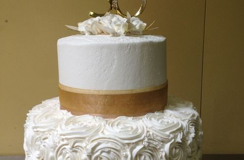 50th Wedding Anniversary Cake Made By Glaus Bakery In Salt Lake City