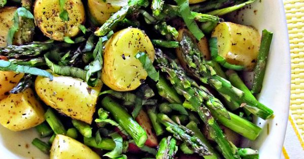 Roasted New Potatoes and Asparagus | Recipe | Asparagus, Potatoes and ...