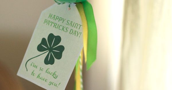 Lucky I have you free st. patrick's day printable from cake events