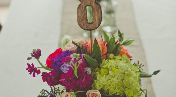 Rustic Wedding Table Numbers Set Includes by CountryBarnBabe