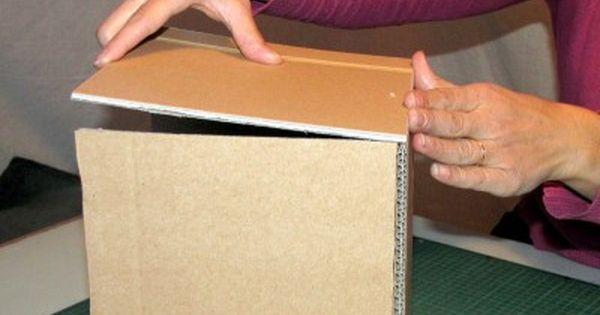 Tutoriel Des Casiers De Rangement En Carton Rangement Carton Casier Rangement Boite Rangement Tissu
