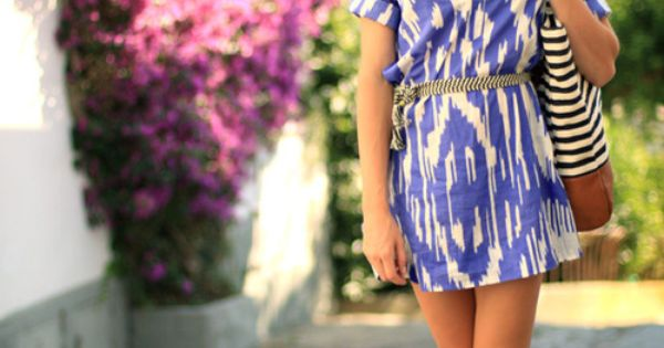New colorful short summer dress