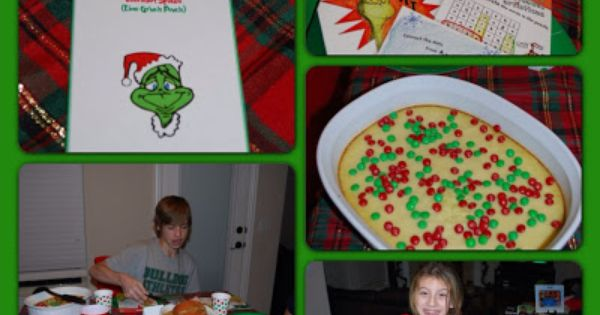 Grinch Dinner, How The Grinch Stole Christmas Themed Night!!! We are so