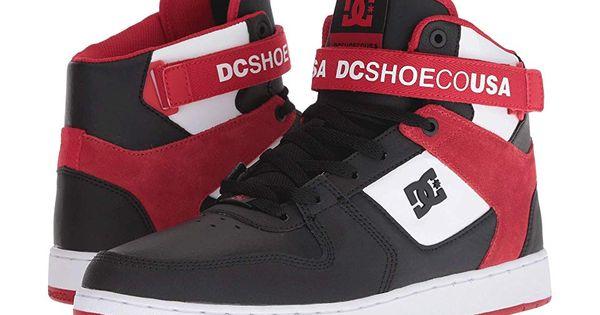 DC Pensford (BlackWhiteRed 2) Men's Skate Shoes. Bring