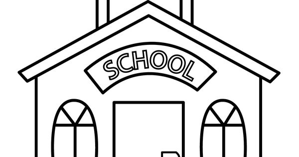 school building coloring pages - photo#18
