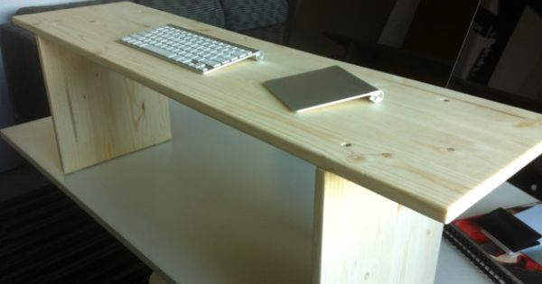 Solid Wood Stand Up Desk By Thestandupcompany On Etsy