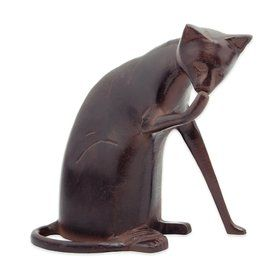 Achla Designs Coy Cat 8 5 In Animal Garden Statue Lowes Com Cat Statue Garden Figurines Garden Statues