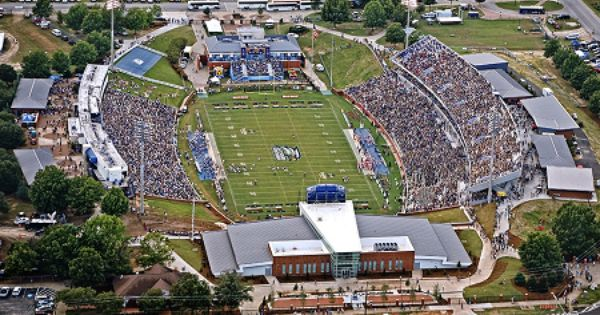 Georgia Southern Paulson Stadium Blue Out Against App State Georgia Southern Georgia Southern University Stadium