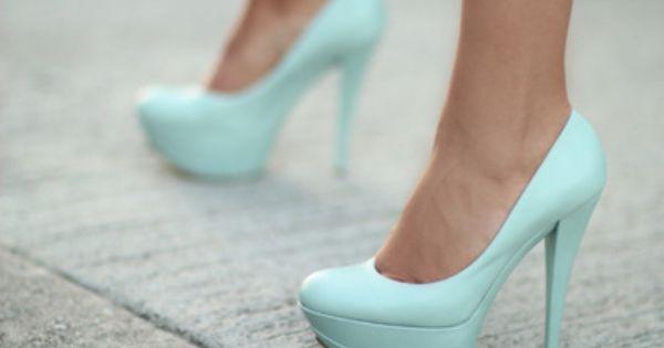 Tiffany blue heels: my something blue