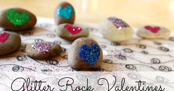 Glitter Rock Valentines :: A Fun Valentine Craft Project for Kids!