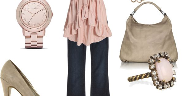 Cute soft pink outfit.
