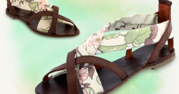"Cholesburys ""Jenny"" sandals, handmade with vintage English fabric"