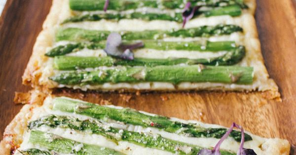 asparagus gruyere cheese puff pastry tart