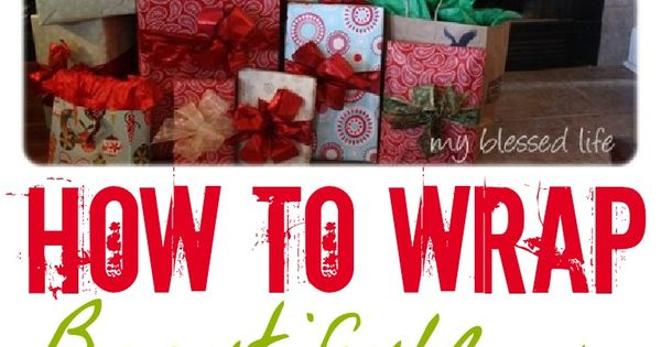 How To Wrap Beautiful Gifts - we need these lessons. We go