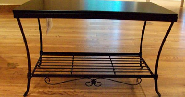 Longaberger Foyer Bench : Longaberger wrought iron foyer bench black woodcraft