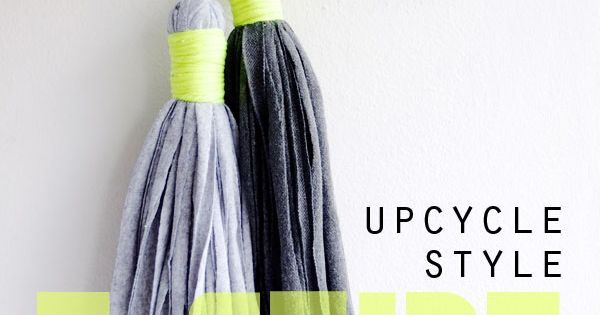 Upcycle Style: T-Shirt Tassel (My Poppet -Your weekly dose of crafty inspiration)