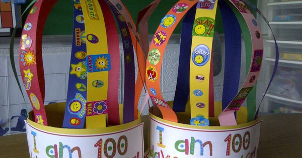 Cute 100th day crown. I am 100 days smarter!
