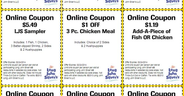 long john silvers 9 printable coupons coupons and deals