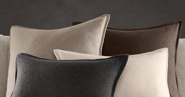 Cashmere Pillow Covers from Restoration Hardware Home Decor: Interior and Exterior Pinterest ...