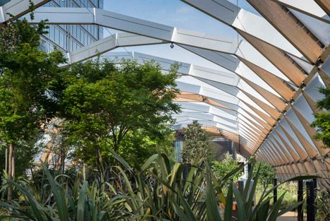 Crossrail Place At Canary Wharf By Foster + Partners   Roof Garden, Rooftop Garden, Front Yard Landscaping Design