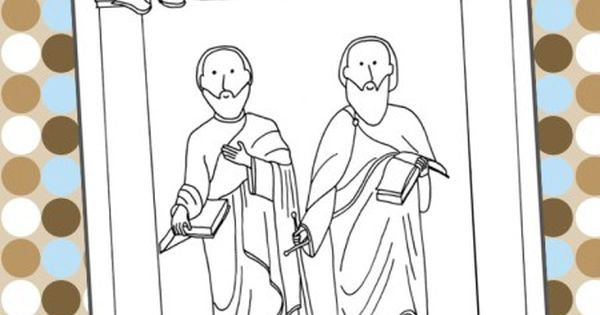 children coloring pages peter paul - photo#11