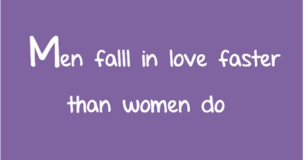 Do Women Fall In Love Faster Than Men