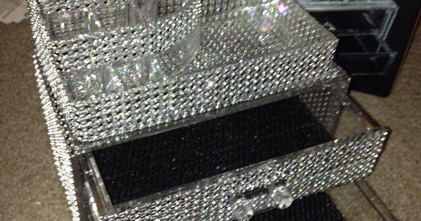 Rhinestone Bling Acrylic Cosmetic Organizer Case 2