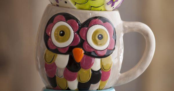Beautiful owl cups