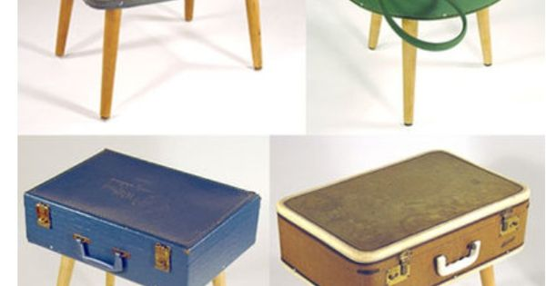 comment utiliser de mani re originale les valises vintage trouv es en brocante d co diy. Black Bedroom Furniture Sets. Home Design Ideas