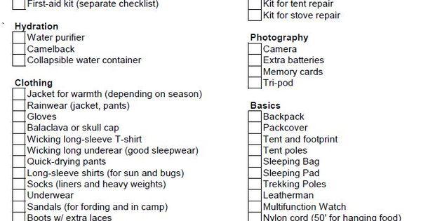printable first aid kit checklist