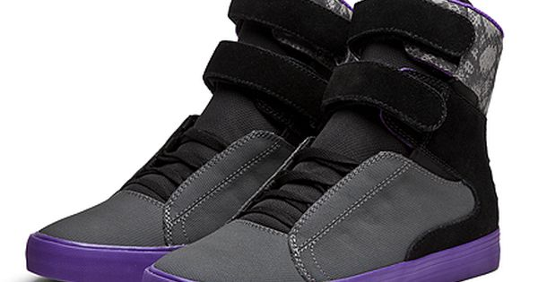 SUPRA SOCIETY | CHARCOAL / BLACK - PURPLE | Official SUPRA Footwear Site | See more about Supra Footwear, Charcoal and Footwear.