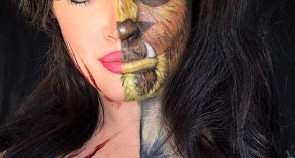 Beatuy Beast Split Paint Face